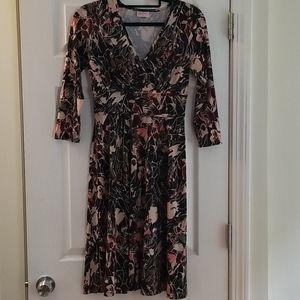 Leona Edmiston Empire Waist 3/4 Sleeve Dress sz 4